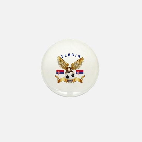 Serbia Football Design Mini Button