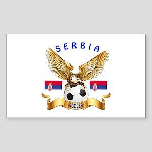 Serbia Football Design Sticker (Rectangle)