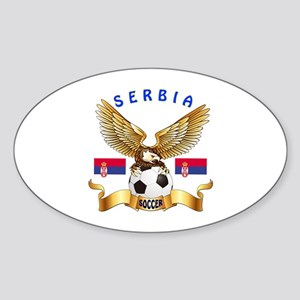 Serbia Football Design Sticker (Oval)