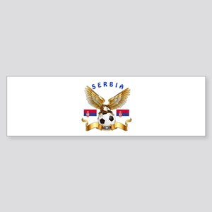 Serbia Football Design Sticker (Bumper)