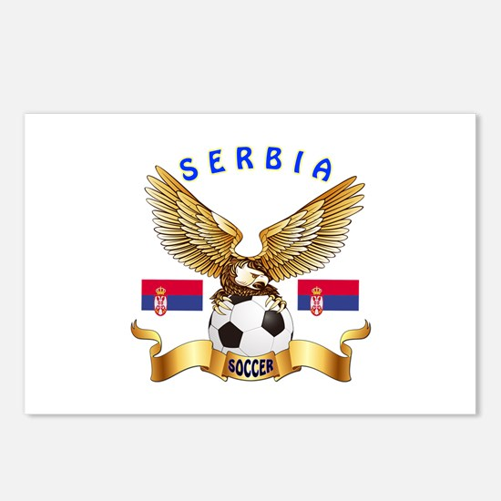 Serbia Football Design Postcards (Package of 8)