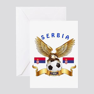 Serbia Football Design Greeting Card