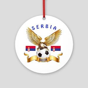 Serbia Football Design Ornament (Round)
