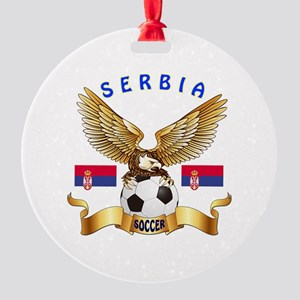 Serbia Football Design Round Ornament
