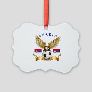 Serbia Football Design Picture Ornament