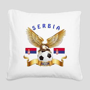 Serbia Football Design Square Canvas Pillow