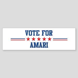 Vote for AMARI Bumper Sticker
