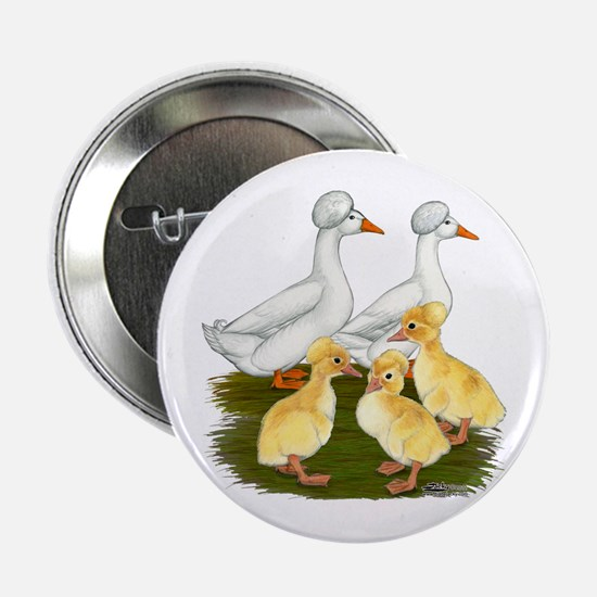"Crested Duck Family 2.25"" Button"