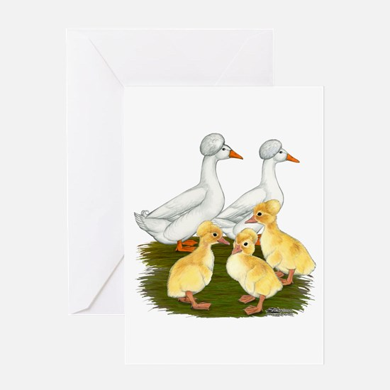 Crested Duck Family Greeting Card