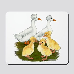 Crested Duck Family Mousepad