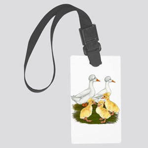 Crested Duck Family Large Luggage Tag