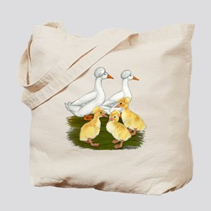 Crested Duck Family Tote Bag
