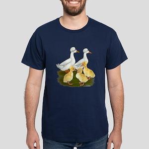Crested Duck Family Dark T-Shirt