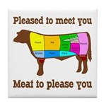 Meat to Please You Gravy Spoon Rest & Tile Coaster