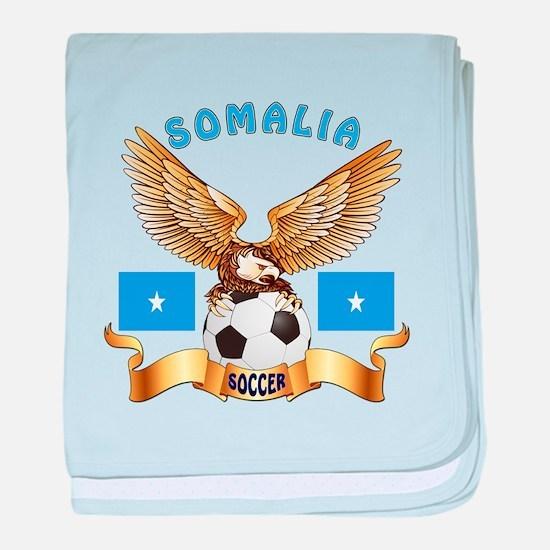 Somalia Football Design baby blanket