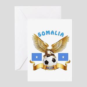 Somalia Football Design Greeting Card