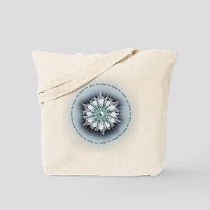 Yin Yang Lotus Tote Bag