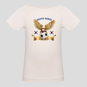 South Korea Football Design Organic Baby T-Shirt