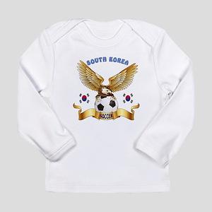 South Korea Football Design Long Sleeve Infant T-S