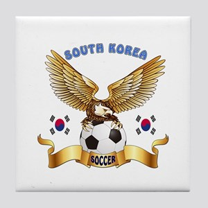 South Korea Football Design Tile Coaster