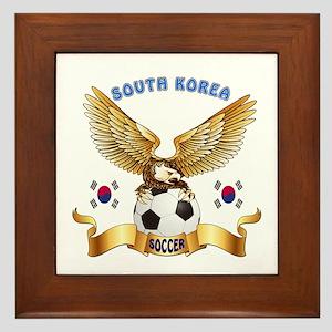 South Korea Football Design Framed Tile