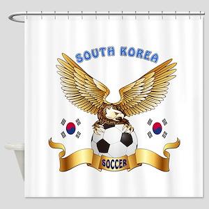 South Korea Football Design Shower Curtain