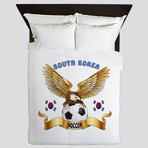 South Korea Football Design Queen Duvet