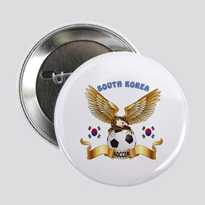 "South Korea Football Design 2.25"" Button"