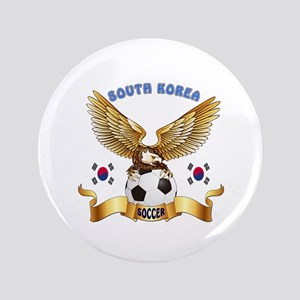 "South Korea Football Design 3.5"" Button"
