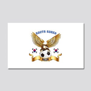 South Korea Football Design Car Magnet 20 x 12