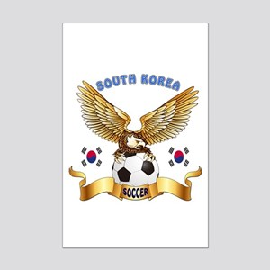 South Korea Football Design Mini Poster Print