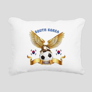 South Korea Football Design Rectangular Canvas Pil