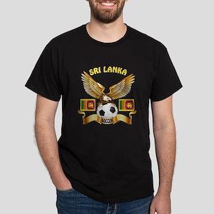 Sri Lanka Football Design Dark T-Shirt