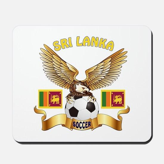 Sri Lanka Football Design Mousepad