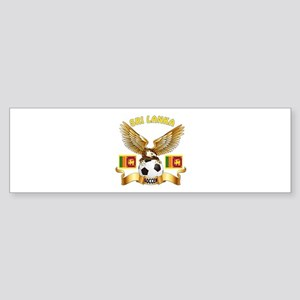 Sri Lanka Football Design Sticker (Bumper)