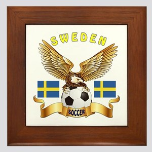 Sweden Football Design Framed Tile