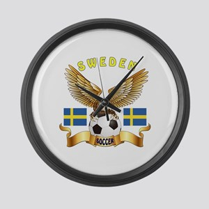 Sweden Football Design Large Wall Clock