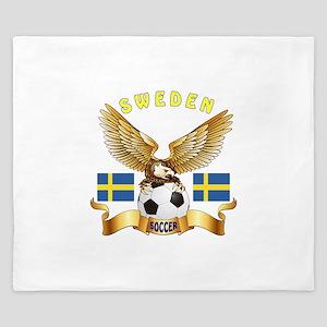 Sweden Football Design King Duvet
