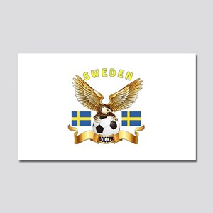 Sweden Football Design Car Magnet 20 x 12