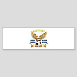 Sweden Football Design Sticker (Bumper)