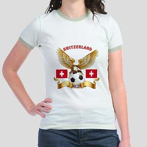 Switzerland Football Design Jr. Ringer T-Shirt