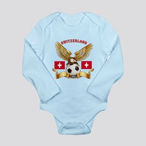 Switzerland Football Design Long Sleeve Infant Bod