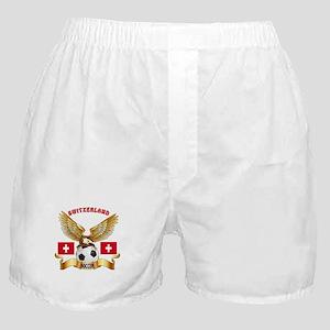 Switzerland Football Design Boxer Shorts