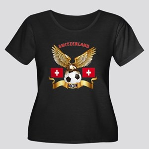 Switzerland Football Design Women's Plus Size Scoo