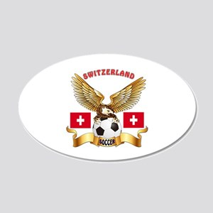 Switzerland Football Design 20x12 Oval Wall Decal
