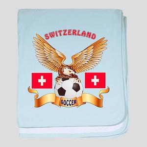 Switzerland Football Design baby blanket