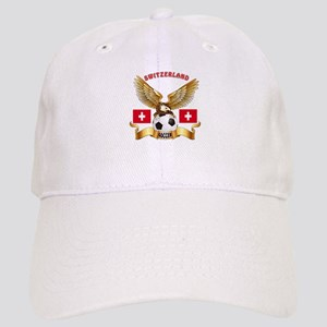 Switzerland Football Design Cap