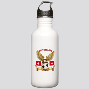 Switzerland Football Design Stainless Water Bottle