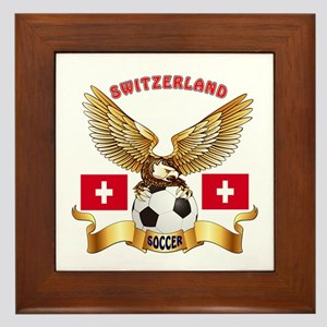 Switzerland Football Design Framed Tile