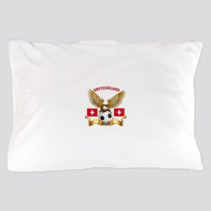 Switzerland Football Design Pillow Case